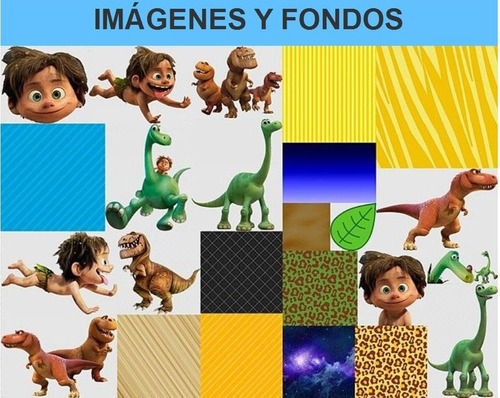 kit imprimible un gran dinosaurio fiesta 3x1