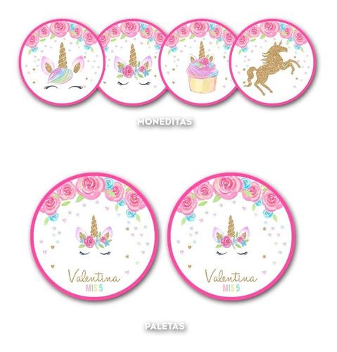 kit imprimible unicornio candy bar personalizado invitacion
