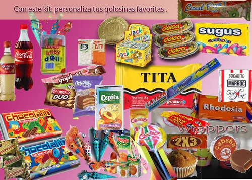 kit imprimible unicornio diseño exclusivo candy bar