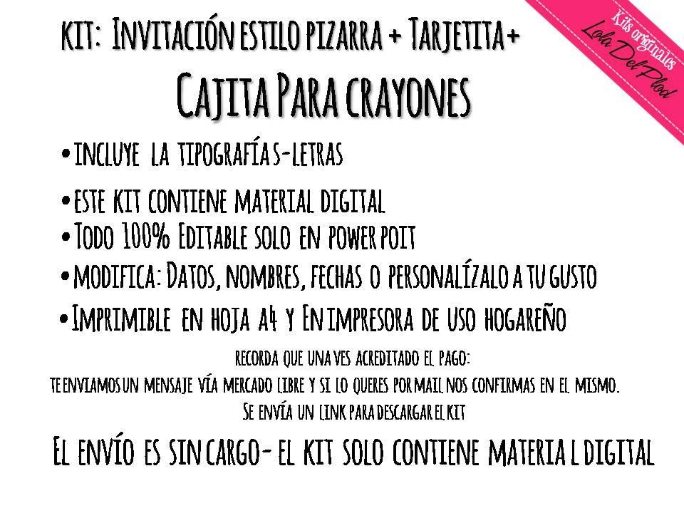 Kit Imprimible Unicornio -invitacion Pizzara + Caja Crayon - $ 75,00 ...