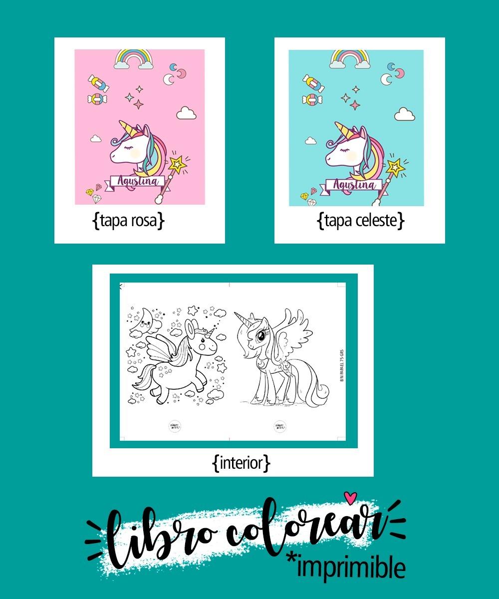 Kit Imprimible Unicornio Libro Para Colorear - $ 120,00 en Mercado Libre