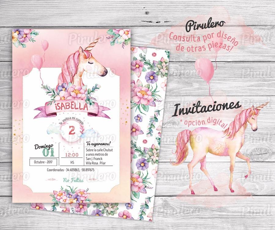 Kit Imprimible Unicornios - Magia De Colores Diseño Piruelo - $ 330 ...