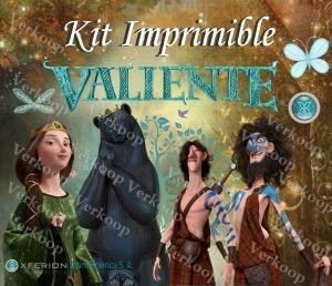 kit imprimible valiente brave invitaciones tarjetas frames c