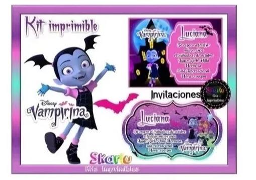Kit Imprimible Vampirina Disney Candy Bar Editable Powerp2x1 ...