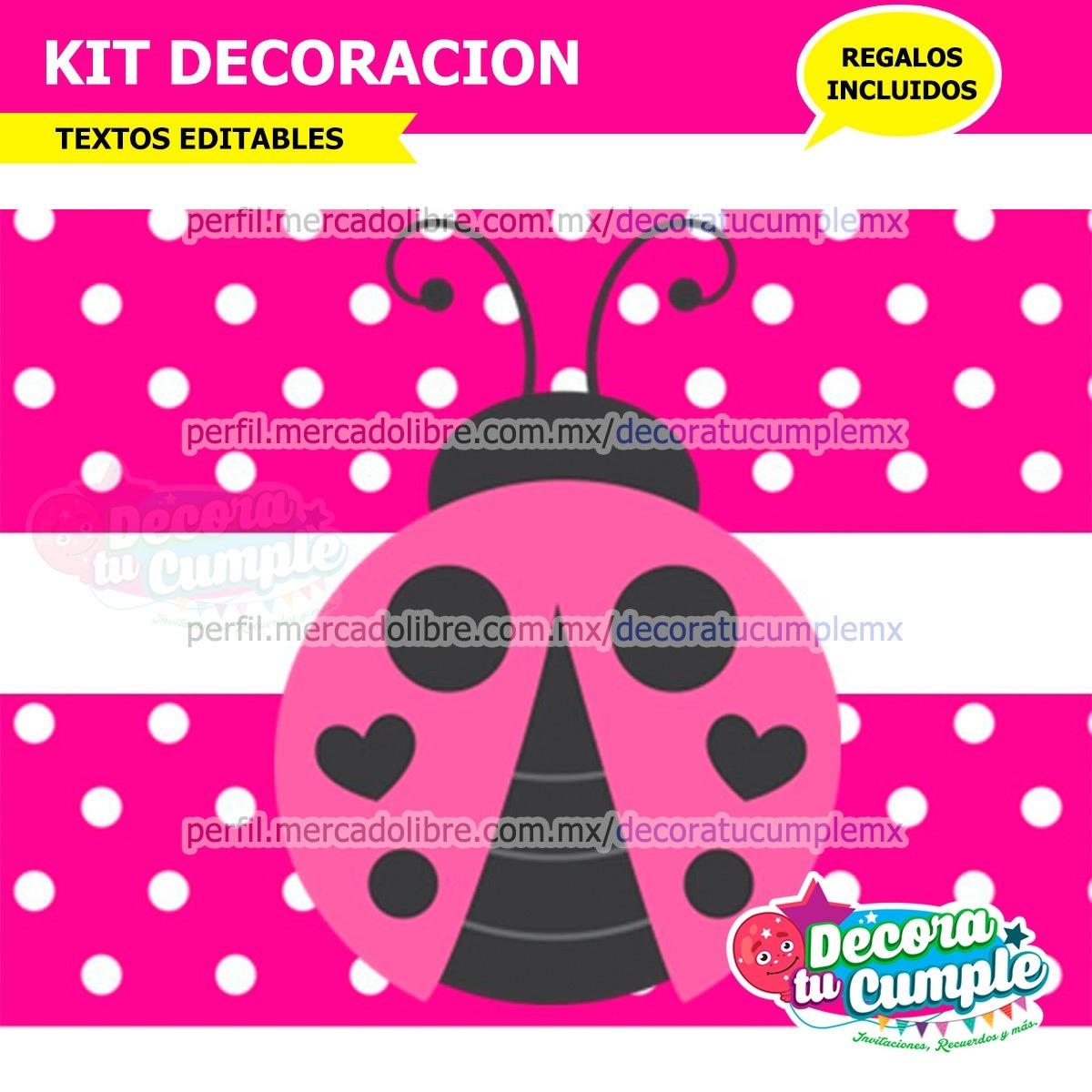 Kit Imprimible Vaquita Rosa Catarina Mariquita P265 - $ 39.00 en ...