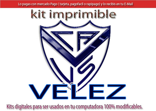 kit imprimible velez candy bar tarjetas cumple y mas
