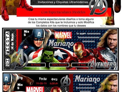 kit imprimible vengadores avengers 2017