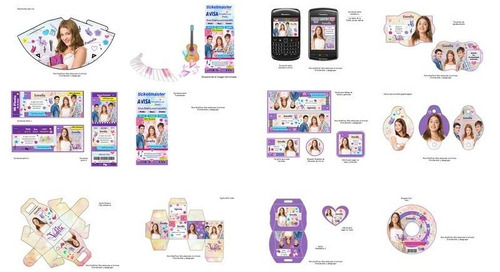 kit imprimible  violetta disney fiesta 3x1
