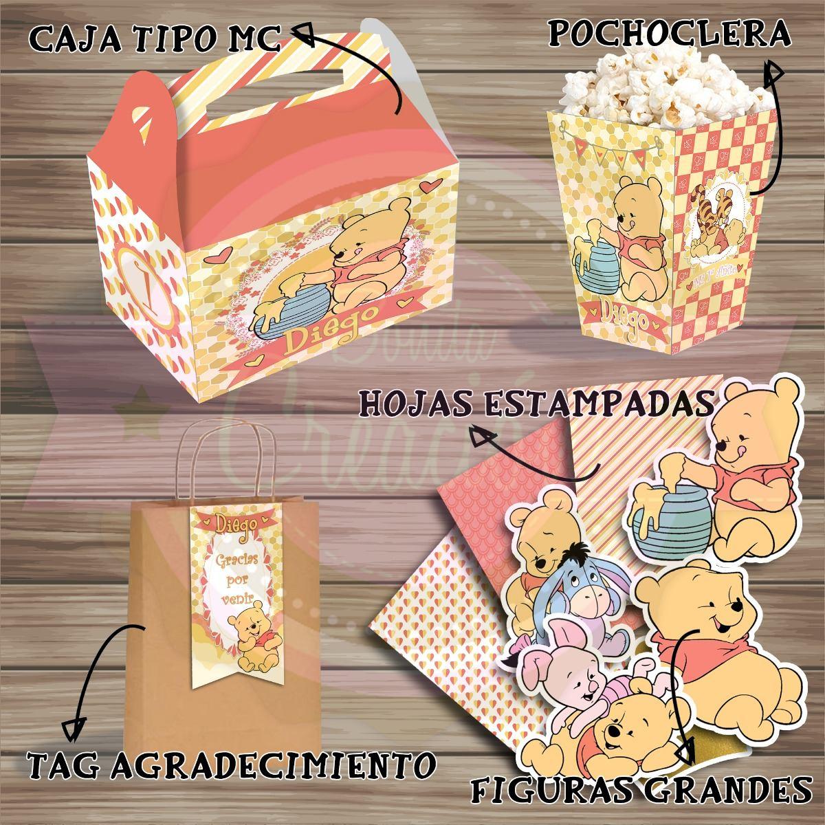 06285ca10 kit imprimible winnie pooh bebé-cumple/baby shower/candy bar. Cargando zoom.