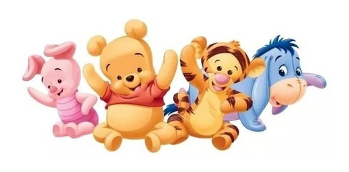 kit imprimible winnie pooh bebe fiesta 3x1