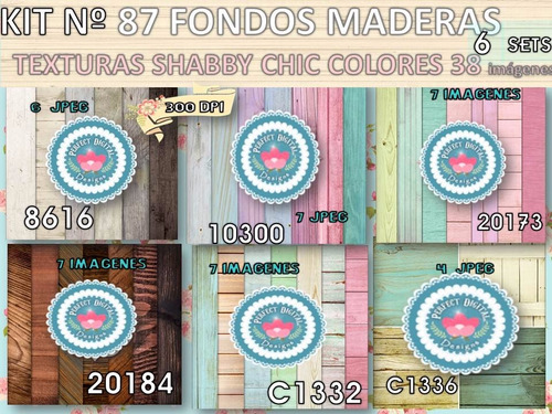 kit imprimible x 6 set 38 fondos collage p/ candybar adultos
