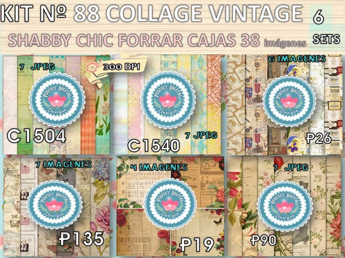 kit imprimible x 6 set 77 diseños escocés p/ dia maestro y+