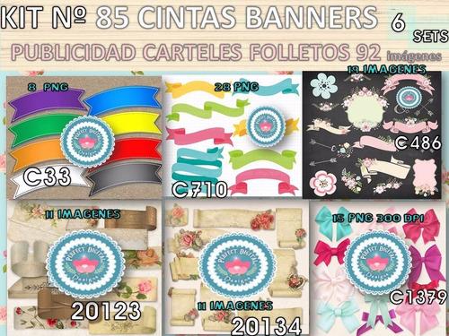 kit imprimible x 6 set cintas banners etiquetas p/ pascuas