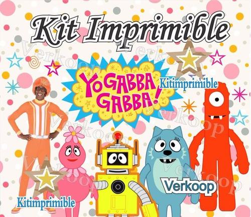 kit imprimible yo gabba gabba candy bar cumples y mas