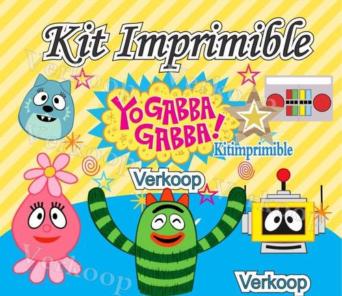 kit imprimible yo gabba gabba candy bar cumples y mas p