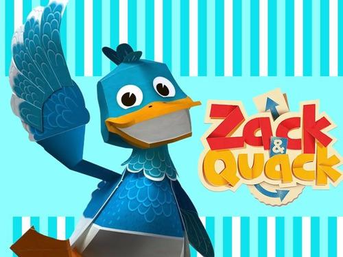kit imprimible zack & quack diseñá tarjetas cumples y mas