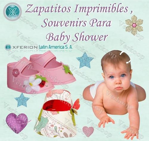 kit imprimible zapatitos souvenirs babyshower fiesta