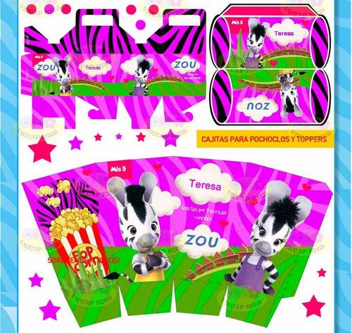 kit imprimible zou candy bar invitaciones cotillon souvenirs