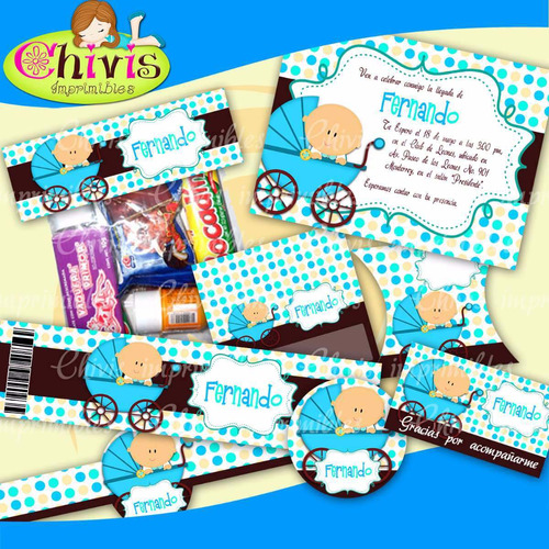 kit imprimibles para baby shower