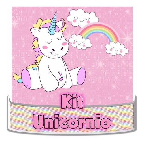 kit imprimibles unicornio 100% editable cotillón temático