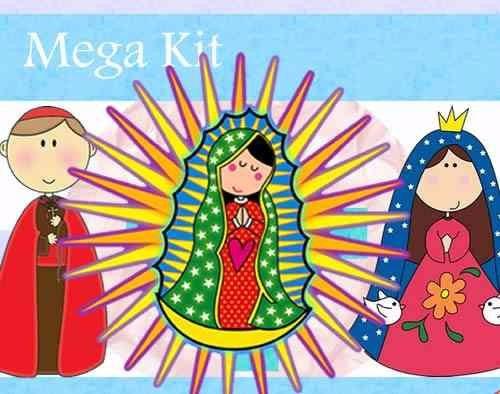 kit imprimilble 2 invitaciones de virgencitas santos y mas