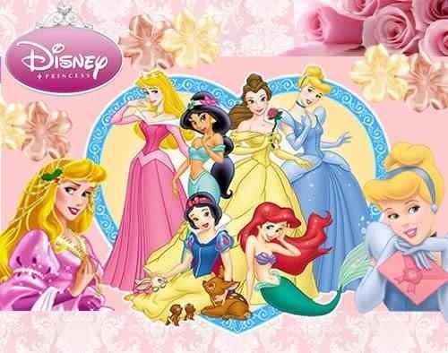 kit imprimilble de 2 princesas diseñá tarjetas cumples y mas