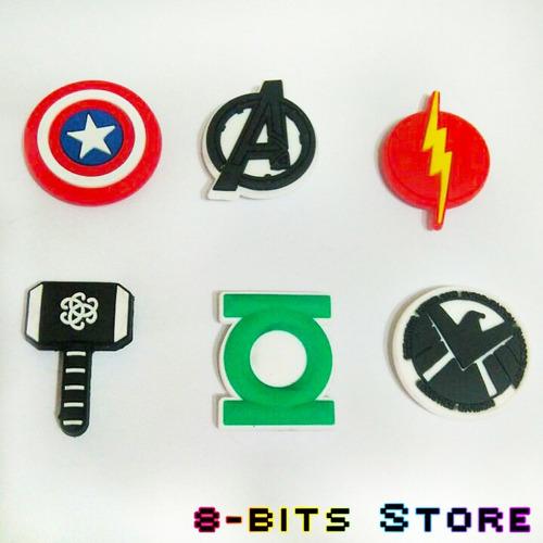 kit imãs emblemas marvel