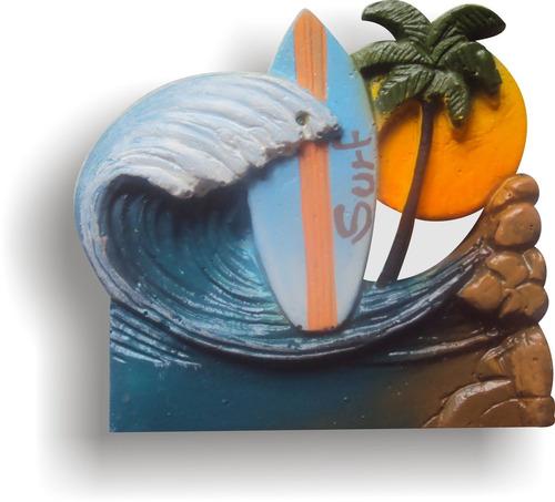 kit imãs temas litoral (06 peças)
