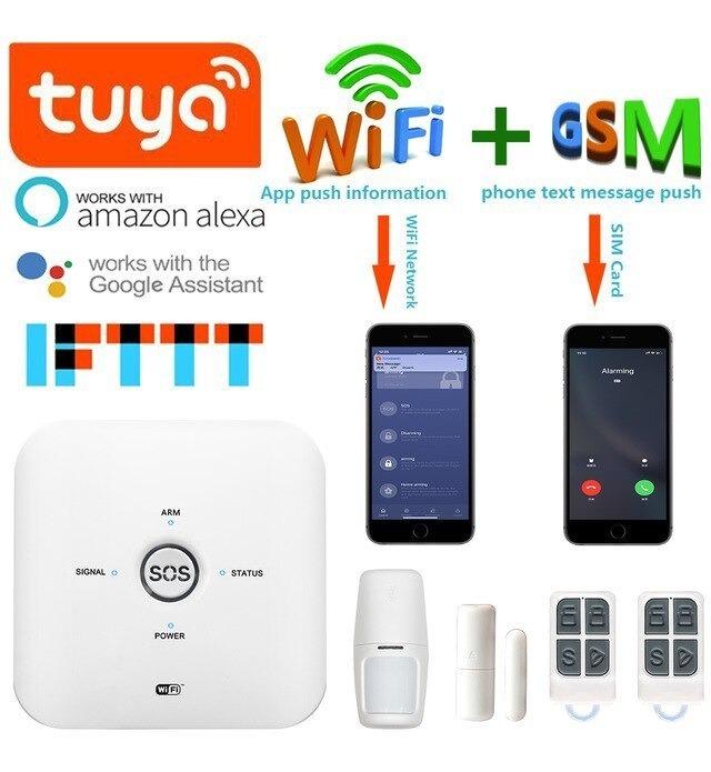 Kit Inalambrico Alarma Wifi Tuya Smart + Mini Camara Cloud
