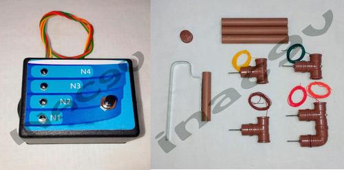 kit indicador de nivel d'agua 4 leds+sensor de pvc pra 1000l