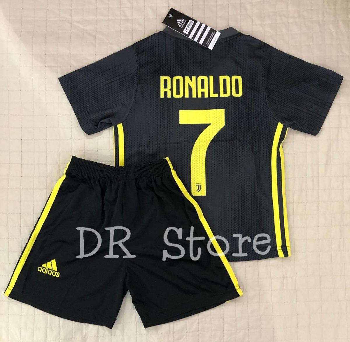 7671ceb48d0 kit infantil 2019 ronaldo 7 com meiao. Carregando zoom.