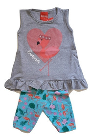 d6b7fe17a90ccb Kit Infantil 8 Conjuntos Infantis Meninas Bebe Atacado