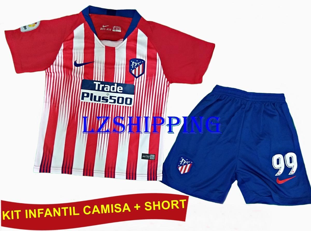kit infantil atlético de madrid original 18 19. Carregando zoom. 6d1e047bbe5c6