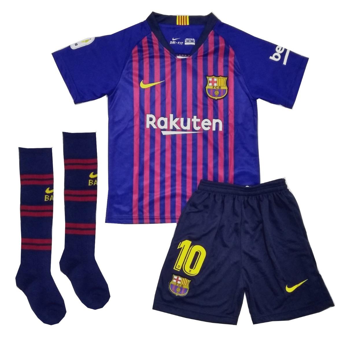 kit infantil barcelona 2018 2019 messi pronta entrega. Carregando zoom. 786f883518684