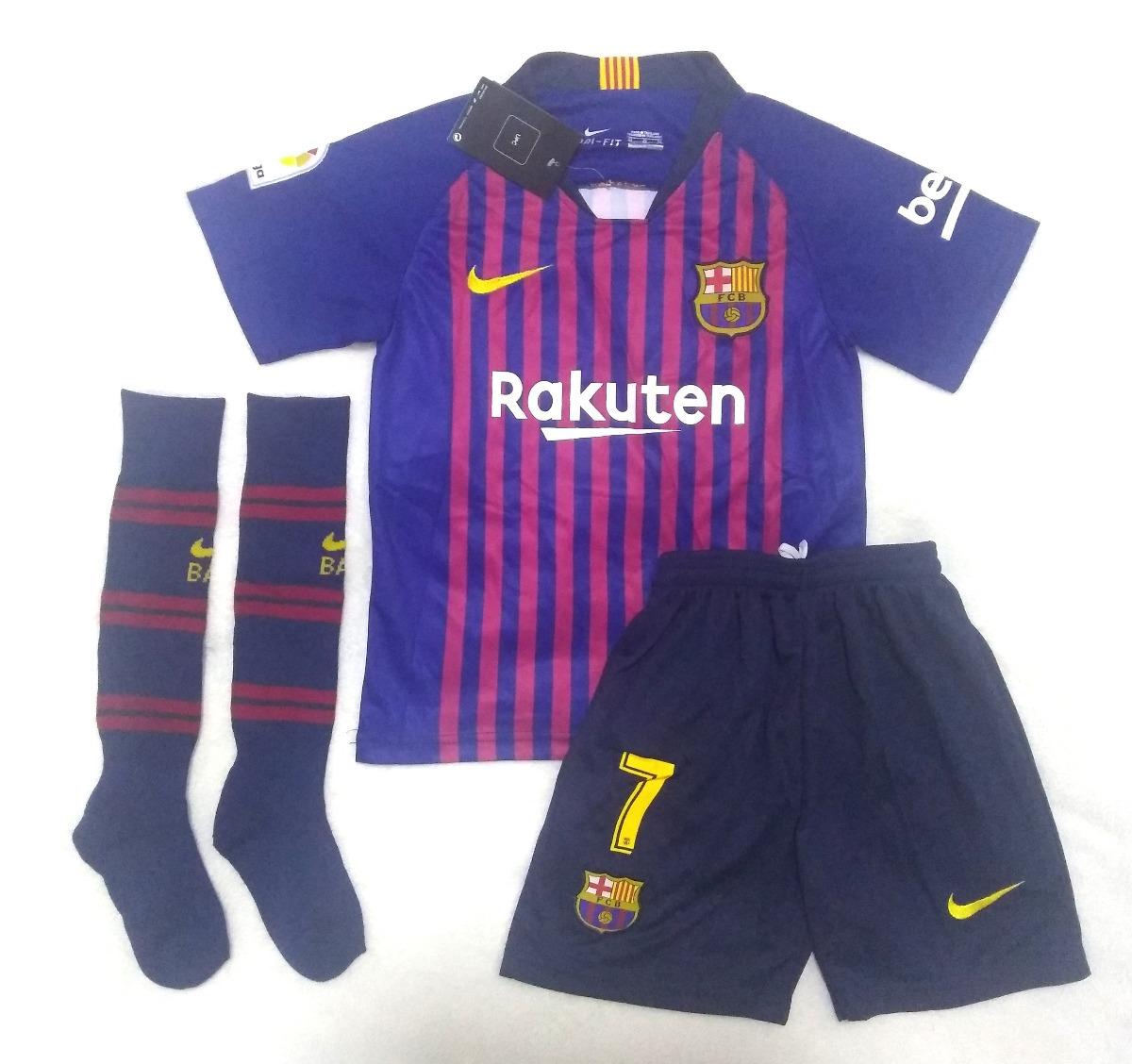f72465fee0 kit infantil barcelona home 2018/2019 coutinho frete grátis. Carregando zoom .
