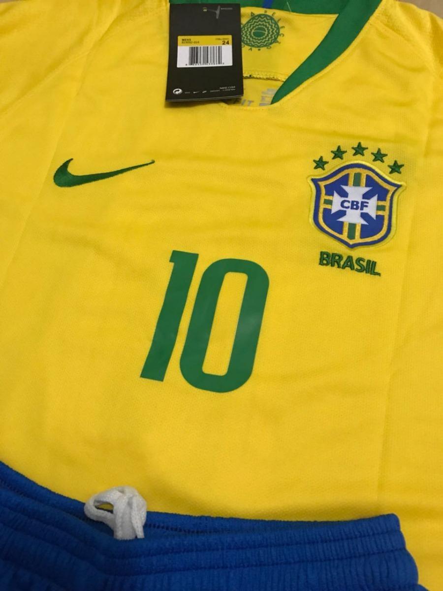 e35ef2ad8 kit infantil camisa infantil seleção brasil neymar copa azul. Carregando  zoom.