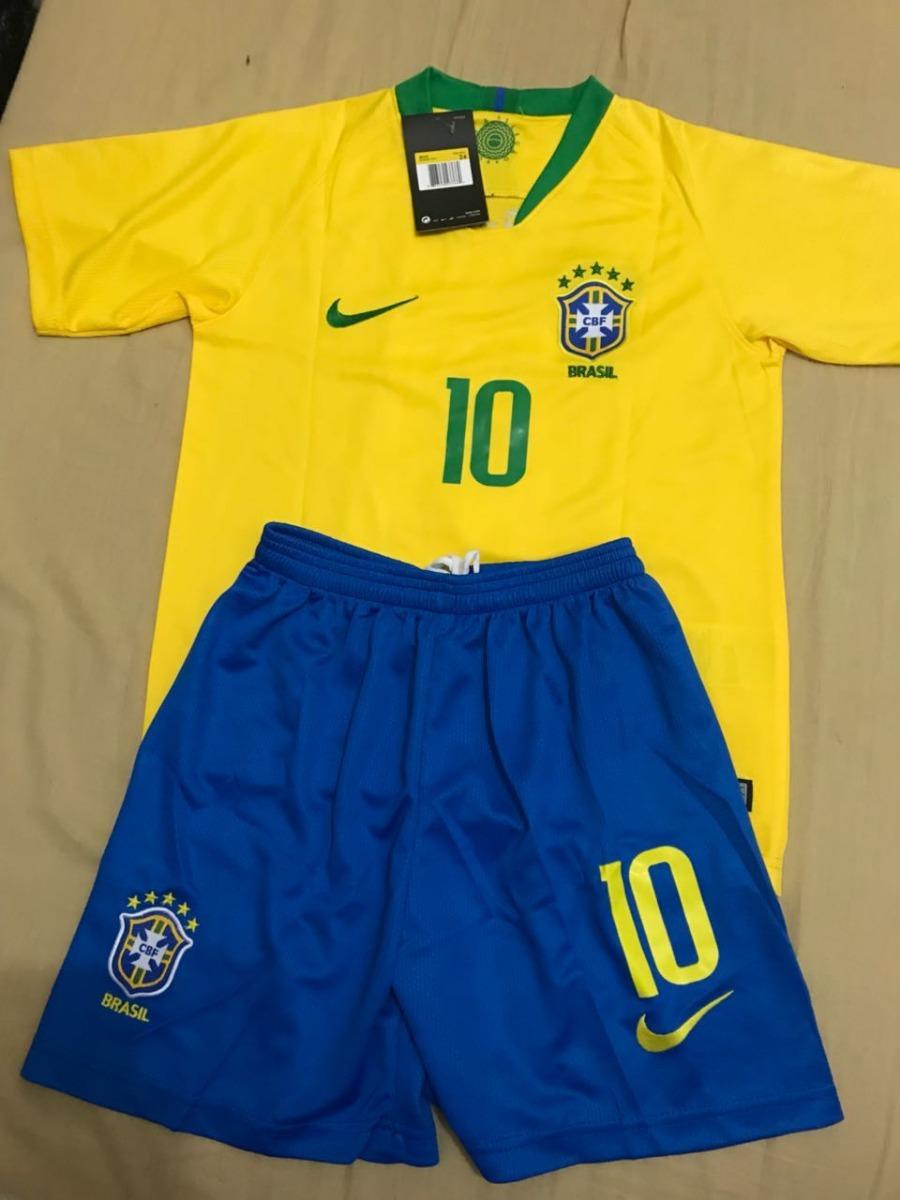 kit infantil camisa infantil seleção brasil neymar copa azul. Carregando  zoom. e3231a6dea475