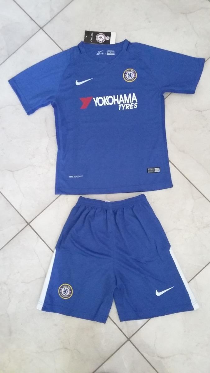 Kit Infantil Chelsea 2017 2018 - Tamanho L 24 - R  99 2365127efa5c1