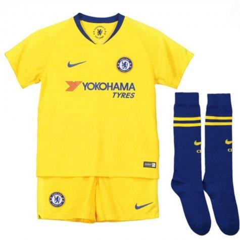Kit Infantil Chelsea Away 2018 2019 - Frete Grátis - R  168 ffebb112e3336
