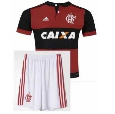 Kit Infantil Flamengo - Camisa + Short Torcida Alve Negra - R  129 ... 23c6f251ca8