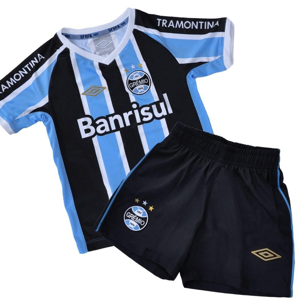 Kit Infantil Futebol Umbro Grêmio Oficial Uniforme Original - R  169 ... 036f6acf3bdd4