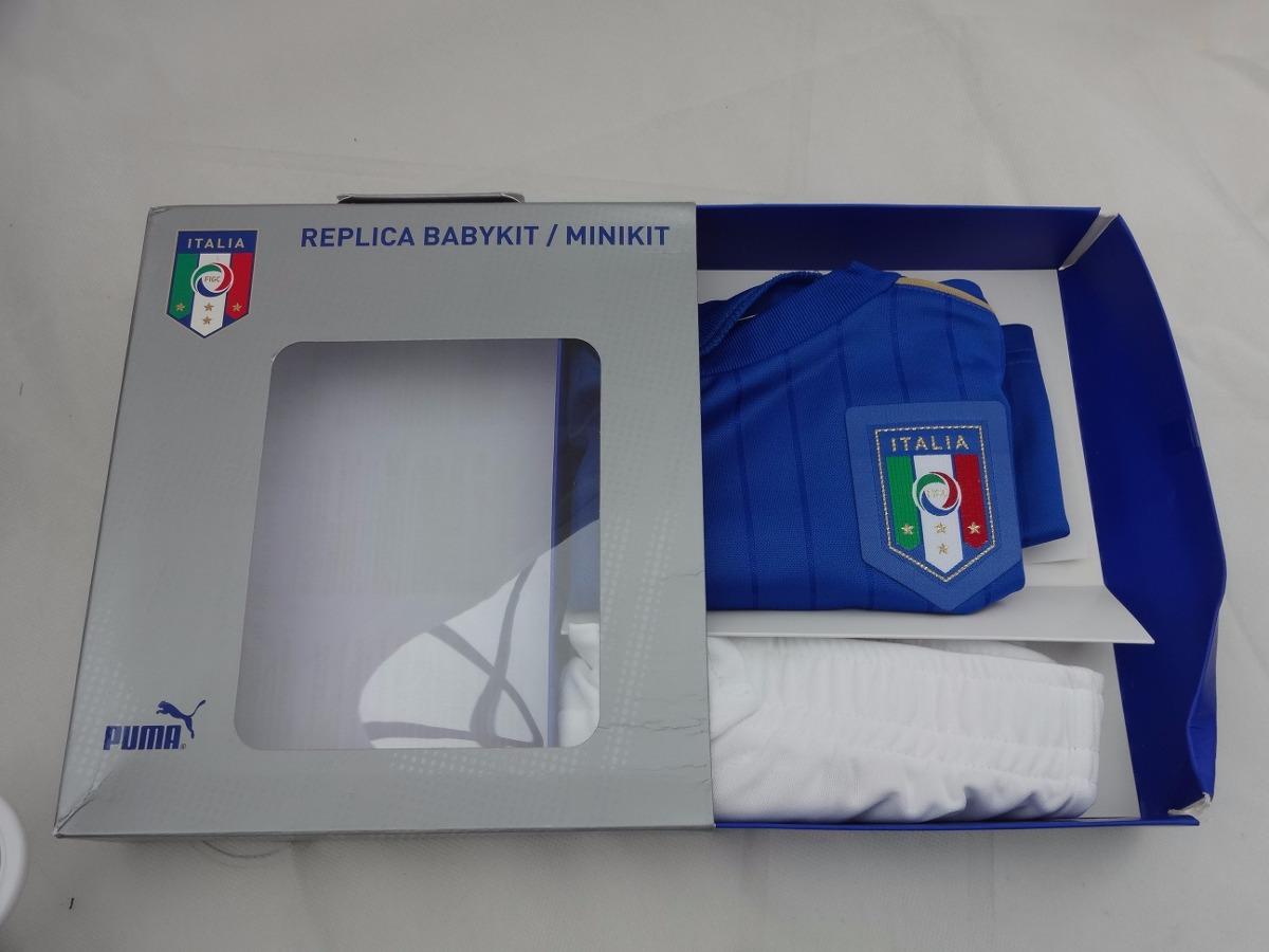 kit infantil itália camisa e calção oficial puma importado. Carregando zoom. 137bf57fe6910