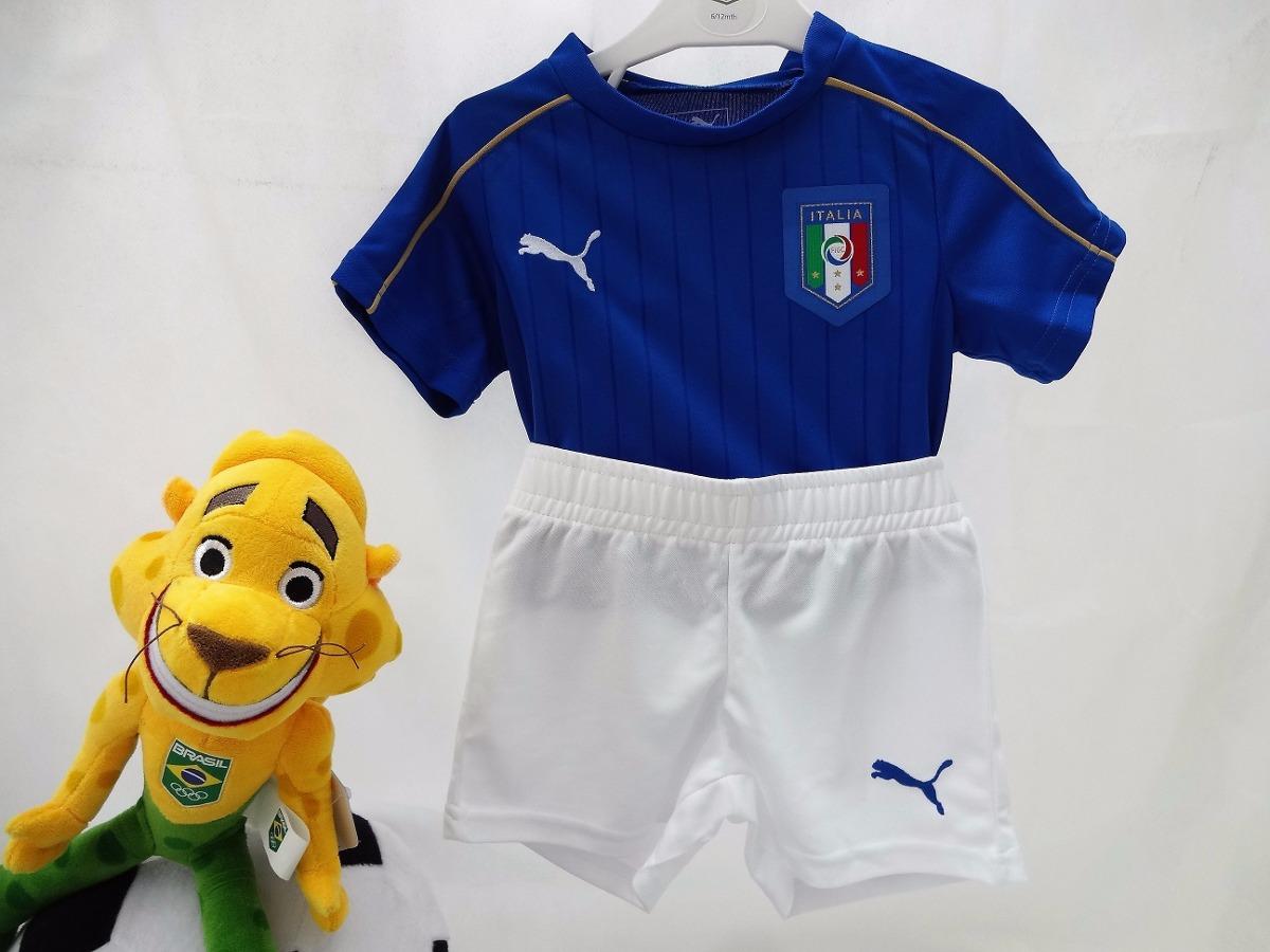 e2fac29900 kit infantil itália camisa e calção oficial puma importado. Carregando zoom.