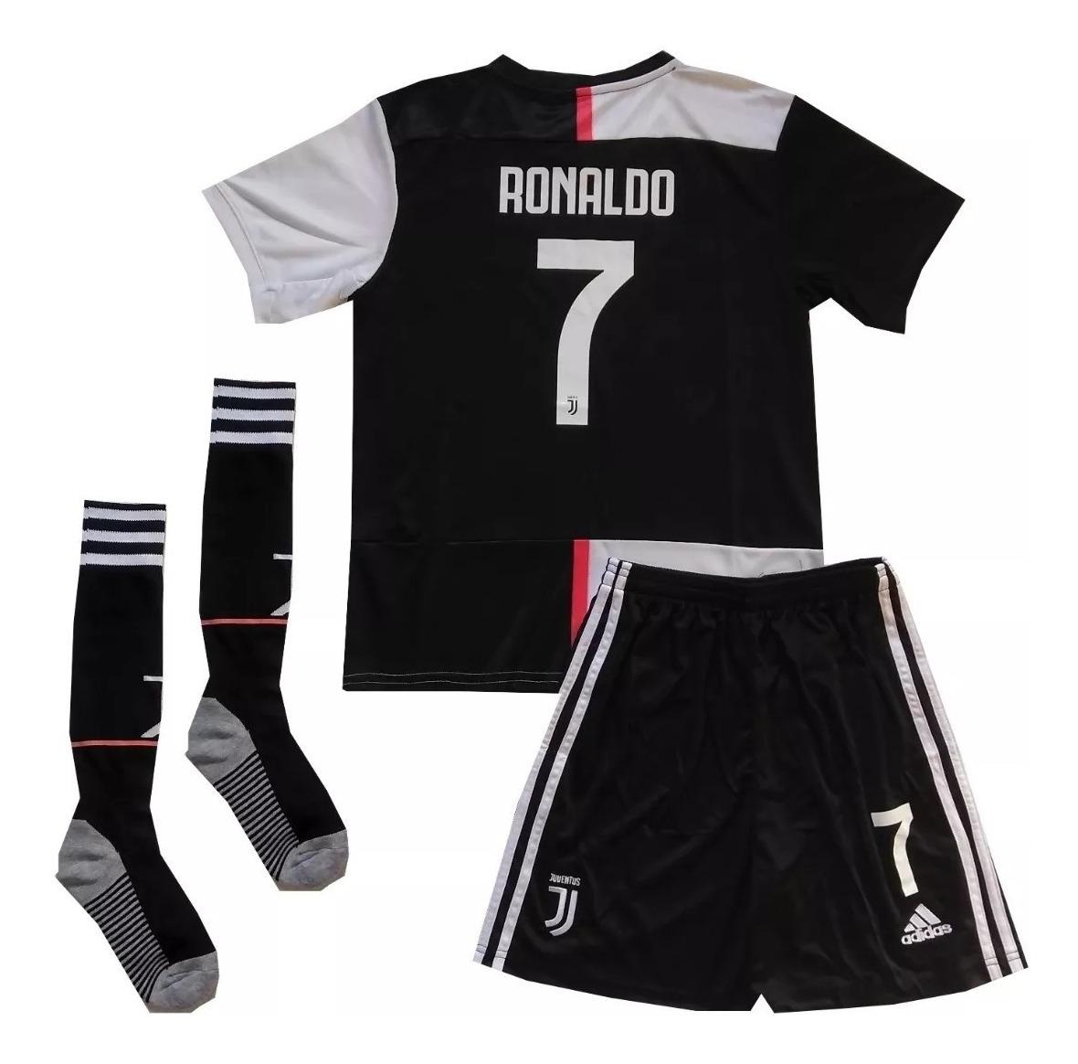reputable site fbe79 bf015 Kit Infantil Juventus 2019 2020 Meião Cr7 Ronaldo 7 Dybala