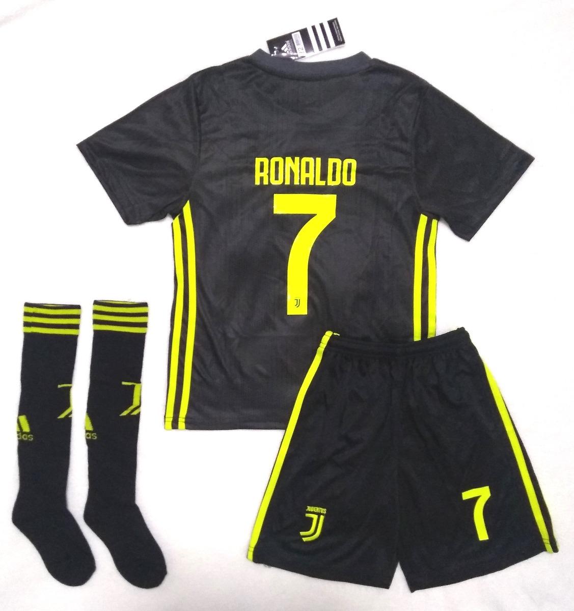 best sneakers 7614c 2308f Kit Infantil Juventus Third 2019 Ronaldo - Promoção