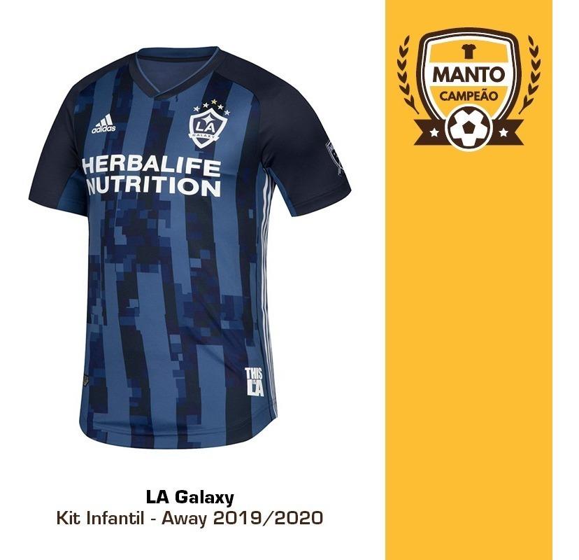 sale retailer 8e3f4 b793b Kit Infantil La Galaxy 2019/2020 Away Ibrahimovic Frete Gts