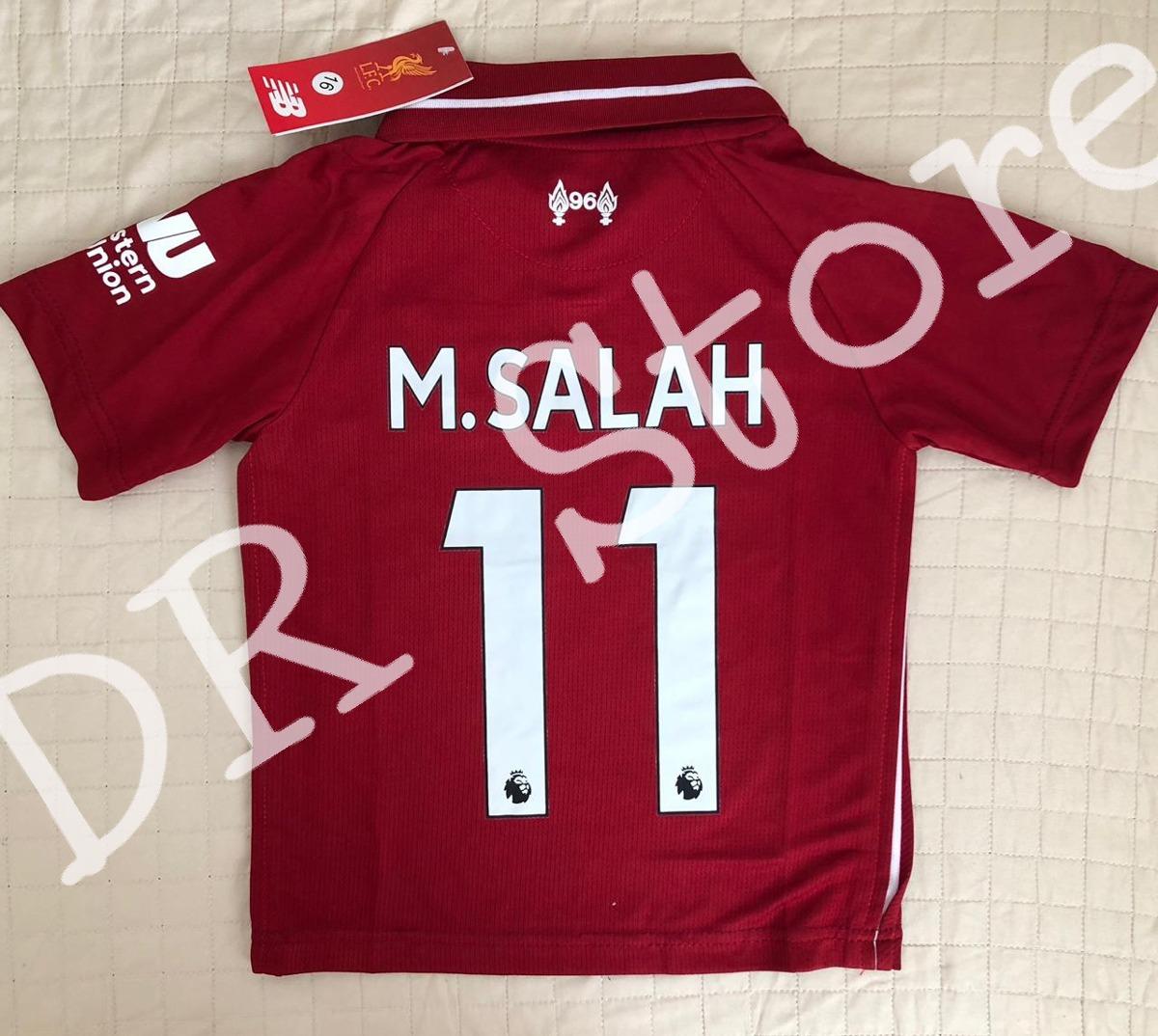 50f61ff9c1 Kit Infantil Liverpool 2019 - Salah Pronta Entrega - R$ 120,00 em ...