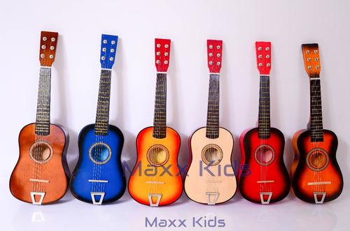 kit infantil musical violão + bateria 6 tambores 3 pratos