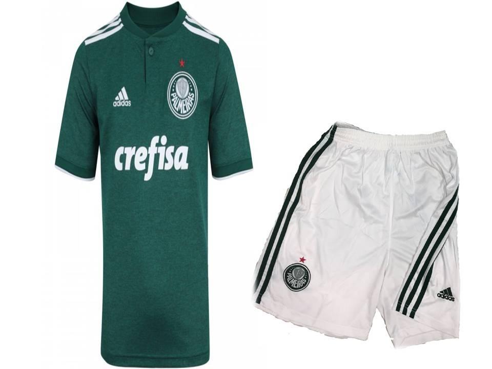 1fe730bfc4 kit infantil palmeiras 2019 camisa + shorts oficial adidas. Carregando zoom.