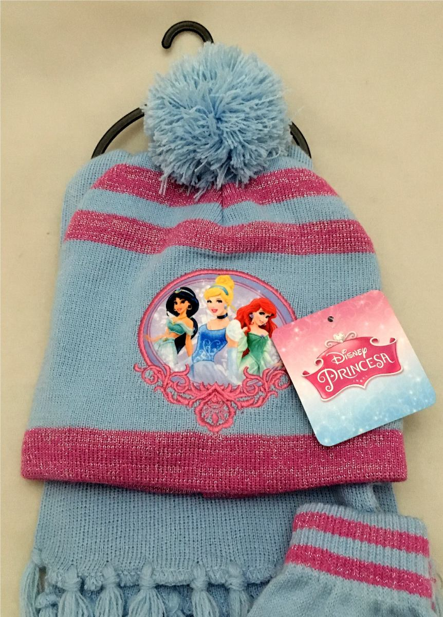 93f680766bf15 kit infantil princesas disney   touca + luvas + cachecol. Carregando zoom.